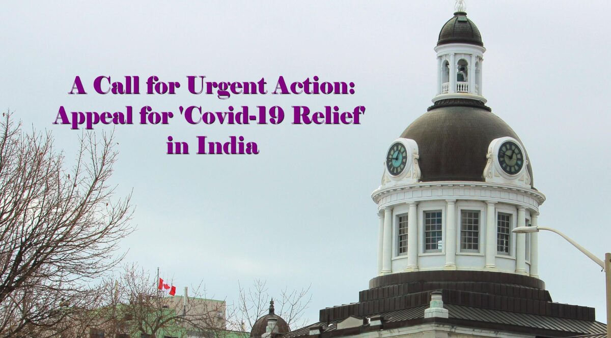 A Call for Urgent Action – Appeal for 'Covid Relief' in India